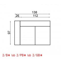 2/GB-Kanapa 2 z jednym bokiem i funkcją glide VENTO